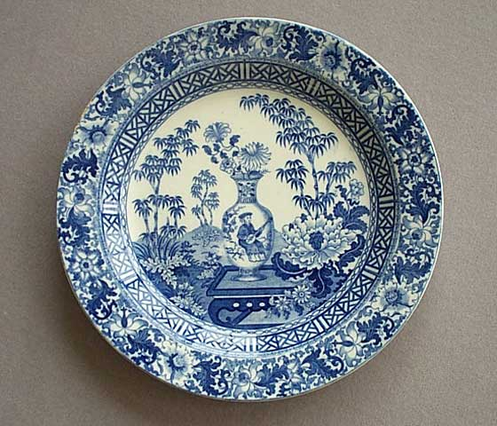 Antique english pottery c19th blue and white english pottery Wedgewood designs